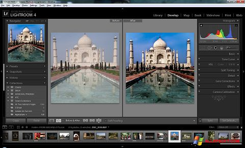 Captura de pantalla Adobe Photoshop Lightroom para Windows XP
