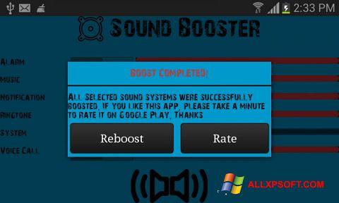 Captura de pantalla Sound Booster para Windows XP