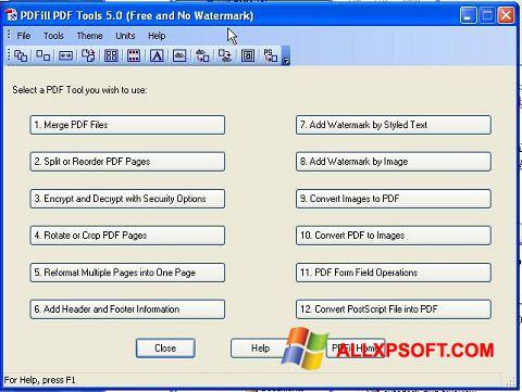 Captura de pantalla Pdf995 para Windows XP