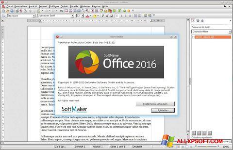 Captura de pantalla SoftMaker Office para Windows XP