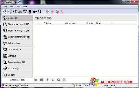 Captura de pantalla Pamela for Skype para Windows XP