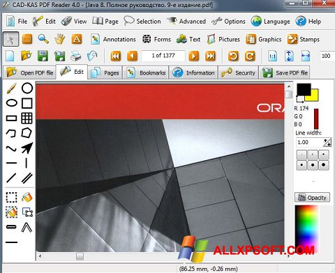 Captura de pantalla PDF Reader para Windows XP