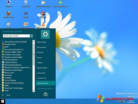 Captura de pantalla ViStart para Windows XP