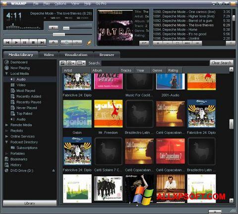 Captura de pantalla Winamp para Windows XP