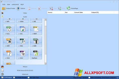 Captura de pantalla Format Factory para Windows XP