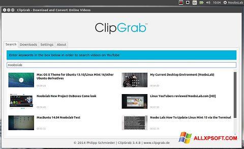 Captura de pantalla ClipGrab para Windows XP