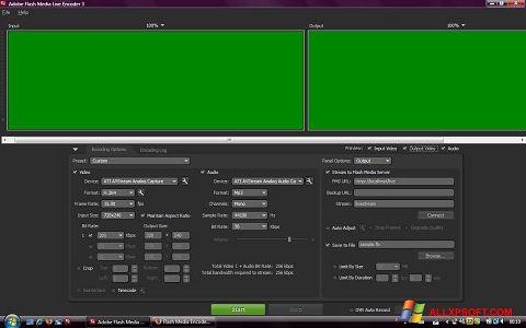 Captura de pantalla Adobe Media Encoder para Windows XP