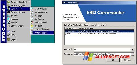 Captura de pantalla ERD Commander para Windows XP