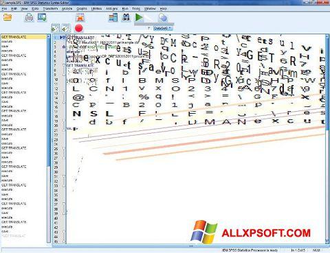 Captura de pantalla SPSS para Windows XP