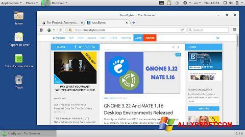 Captura de pantalla Tor Browser para Windows XP