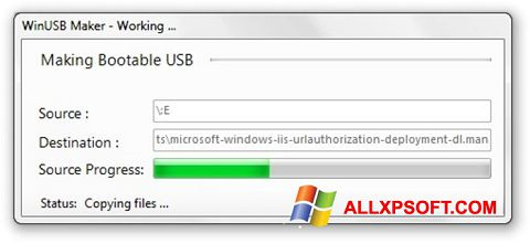Captura de pantalla WinUSB Maker para Windows XP