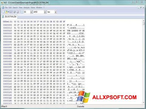 Captura de pantalla HxD Hex Editor para Windows XP
