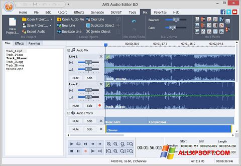 Captura de pantalla AVS Audio Editor para Windows XP