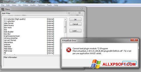 Captura de pantalla VirtualDub para Windows XP
