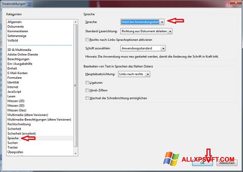 Captura de pantalla Adobe Reader para Windows XP