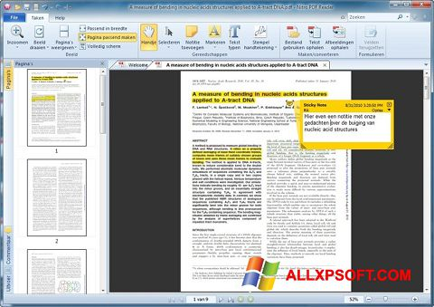Captura de pantalla Nitro PDF Reader para Windows XP
