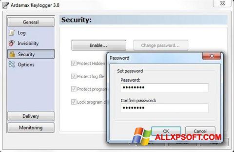 Captura de pantalla Ardamax Keylogger para Windows XP
