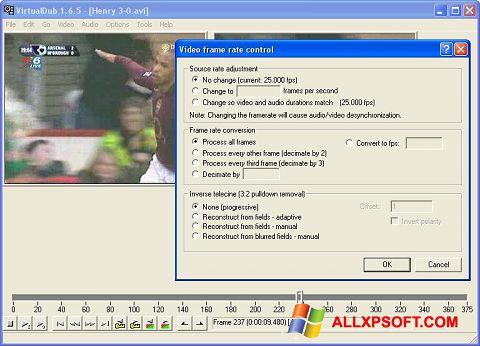 Captura de pantalla VirtualDubMod para Windows XP