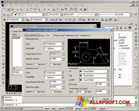 Captura de pantalla ZWCAD para Windows XP