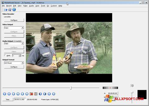 Captura de pantalla Avidemux para Windows XP
