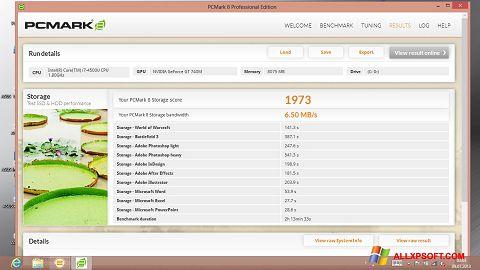 Captura de pantalla PCMark para Windows XP