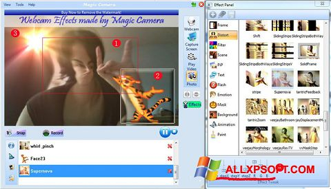 Captura de pantalla Magic Camera para Windows XP