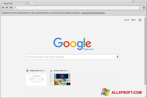 Captura de pantalla Google Chrome para Windows XP