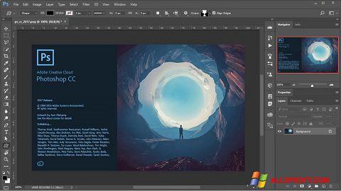 Captura de pantalla Adobe Photoshop para Windows XP