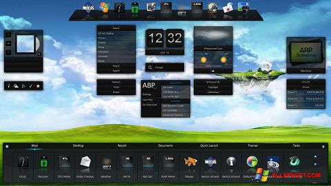 Captura de pantalla Winstep Nexus para Windows XP