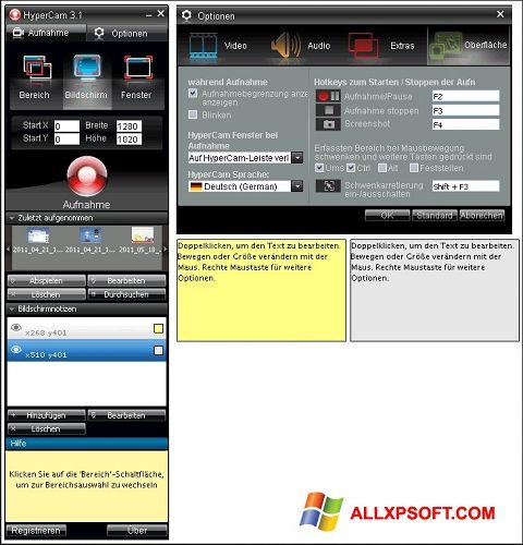 Captura de pantalla HyperCam para Windows XP