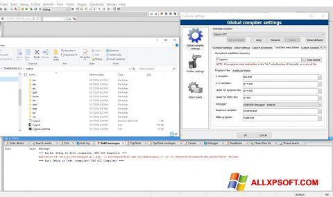 Captura de pantalla Cygwin para Windows XP