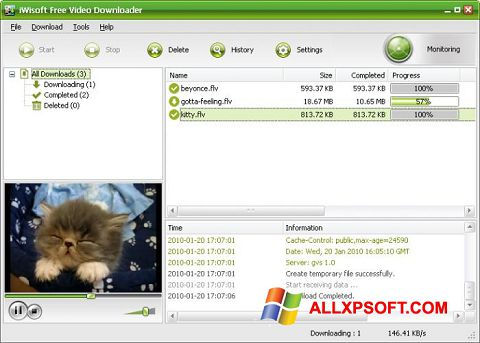 Captura de pantalla Free Video Catcher para Windows XP