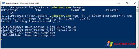 Captura de pantalla Windows PowerShell para Windows XP