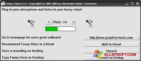 Captura de pantalla Funny Voice para Windows XP