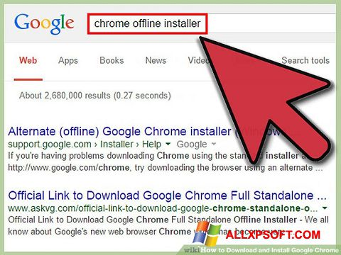 Captura de pantalla Google Chrome Offline Installer para Windows XP