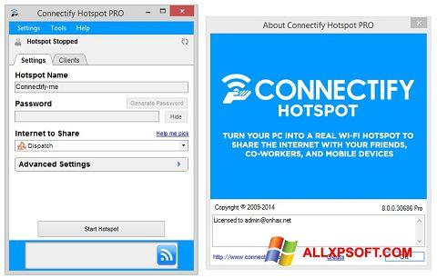 Captura de pantalla Connectify para Windows XP