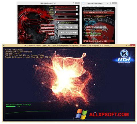 Captura de pantalla MSI Kombustor para Windows XP