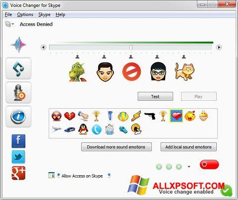 Captura de pantalla Skype Voice Changer para Windows XP