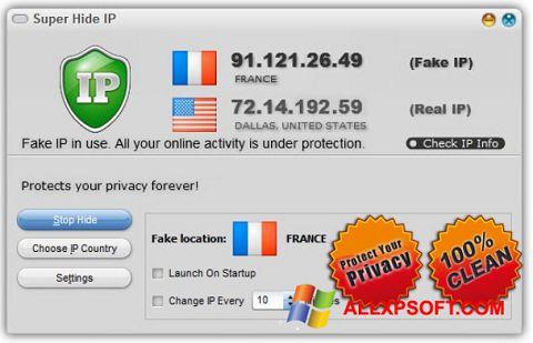 Captura de pantalla Super Hide IP para Windows XP