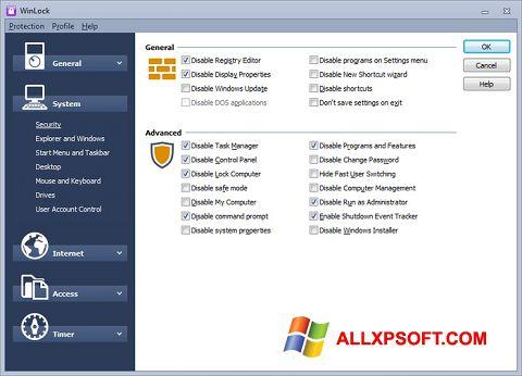Captura de pantalla WinLock para Windows XP