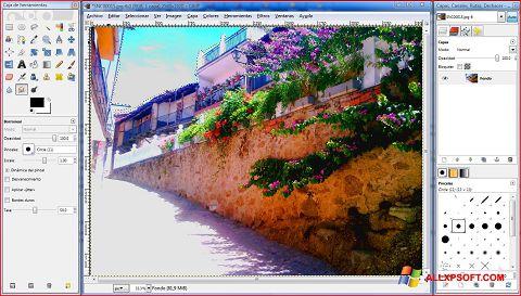 Captura de pantalla GIMP para Windows XP