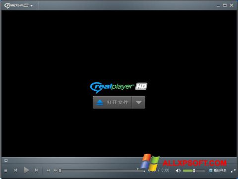 Captura de pantalla RealPlayer para Windows XP