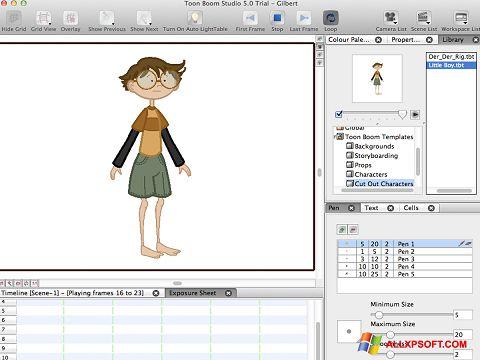 Captura de pantalla Toon Boom Studio para Windows XP