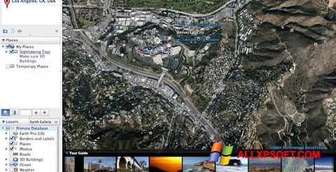 Captura de pantalla Google Earth Pro para Windows XP