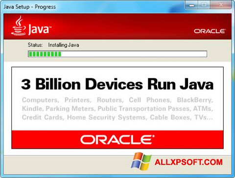 Captura de pantalla Java Runtime Environment para Windows XP