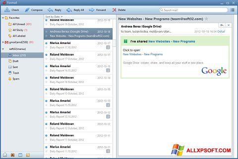 Captura de pantalla FoxMail para Windows XP
