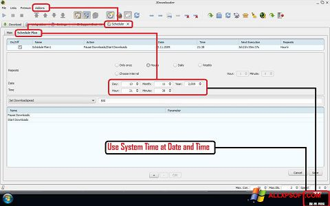 Captura de pantalla JDownloader para Windows XP