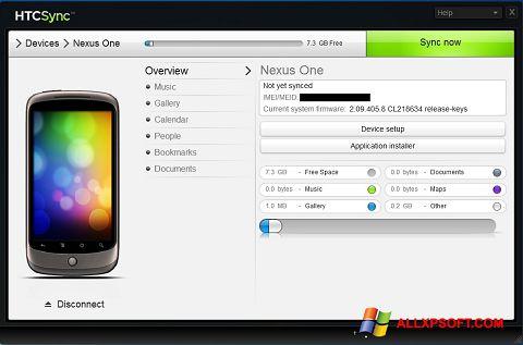 Captura de pantalla HTC Sync para Windows XP