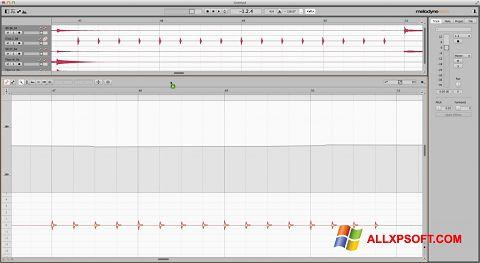Captura de pantalla Melodyne para Windows XP