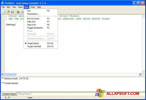 Captura de pantalla Inno Setup para Windows XP